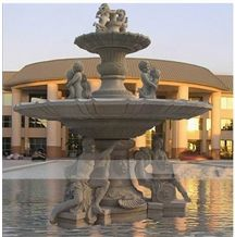 Stone Fountain Carved Granite Water Sculptured Fountains