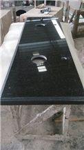 Black Galaxy Granite Bathrooms Vanity Top, Natural Black Granite Vanity Tops