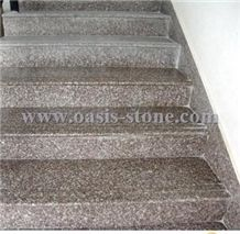 G664 Granite Stairs&Steps,Misty Brown Granite