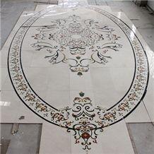 Wellest Customized Water Jet Marble Medallion,Honeycomb,Interior Flooring Mosaic,Stone Pattern