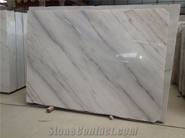 Guangxi White Marble With Grey Vein Slabs Tiles China