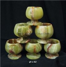 Wine Goblet, Multi Green Onyx Home Decor