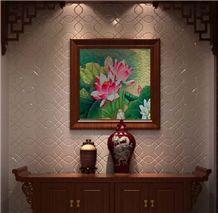Art Work Paintings Nano Crystallized Glass Stone Walling Decoration Customized Design Large Slab