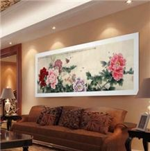 Nano Crystallized Stone Background Wall Art Work Walling Panel Home Decor Painting Chinese Style