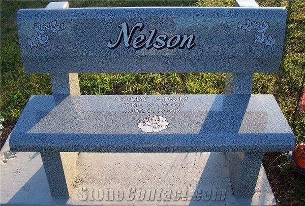 Prime Georgia Grey Granite Memorial Bench From United States Ibusinesslaw Wood Chair Design Ideas Ibusinesslaworg