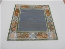 Palissandro Nuvolato Marble and Breccia Di Montepulciano Marble Inlay Tabletop