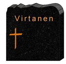 Engraved Karelia Black Granite Headstone