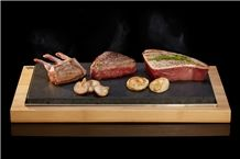Lava Stone Steak Set, Sharing Steak Plate, Steak Stones, Lava Rock Cooking on a Hot Stone