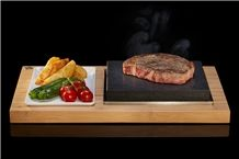 Stone Grill, Steak Stones and Basalt Stone Cooking, Sizzling Steak Plate Set, Steak Stones