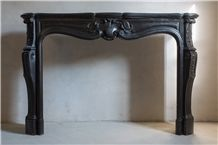 Oderen Black Antique Marble Fireplace