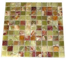 1x1 Green Onyx Polished Mosaic Tiles Stan