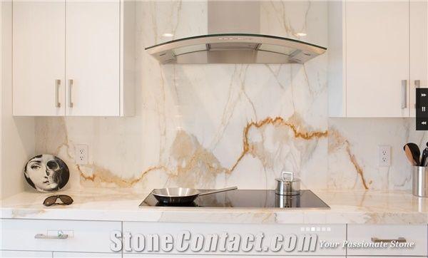 Calacatta Quartzite Kitchen Countertop
