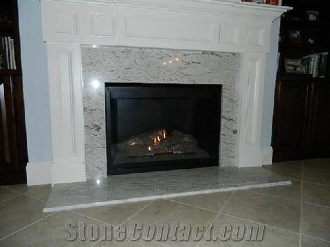 Cavalete White Granite Fireplace Design From United States