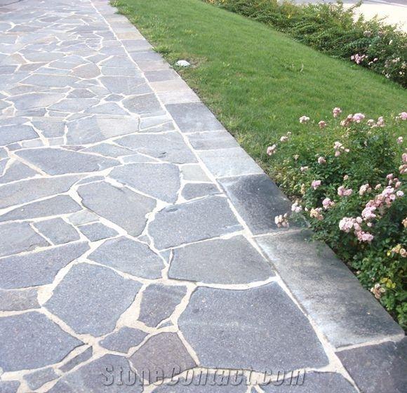Porfido Rosso Ceola Irregular Flagstone Walkway Pavers