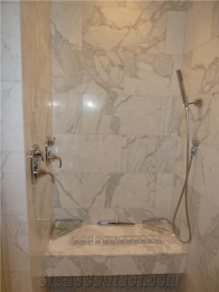 Calacatta Gold Marble Shower Picture From United States