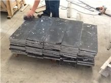 Nero Crystal Marble Honed Tiles, China Black Marble Tiles- Own Quarry(Good Price)
