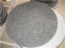 Grey Granite Dinner Table, Round Table
