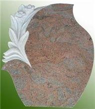 Pink Granite Headstone/Monument/Tombstone