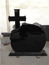 Shanxi Black Granite Cross Tombstones and Monument