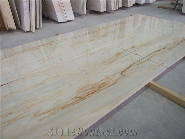 Aurora Gold Marble White Marble With Gold Veins Slabs
