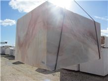 Aurora Gold Rosa Marble Blocks, White Marble with Pink Veins Blocks