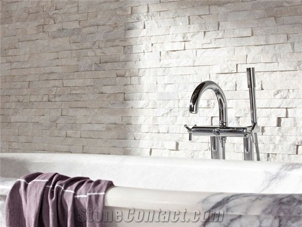 regrouting tiles in bathroom white quartzite maxi splitface wall cladding panel from 20146