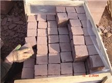 China Red Sandstone Cubes,Cobble Stone