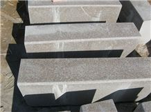 G368 Granite,Wulian Red Granite Kerbstone