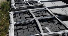 G370 Rushan Black Granite Cube Paver