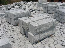 Grey Granite Mushroom Wall Block, G341 Grey Granite Mushroom Wall