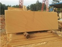 Sichuan Yellow Sandstone Pattern Slabs & Tiles, China Yellow Sandstone Slabs & Tiles