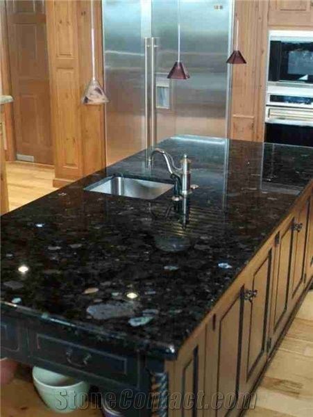 Blue Granite Countertops Volga Kitchen Countertop Extra Dark Island Tops