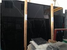 China Black Marquina Marble Slabs & Tiles