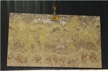Orange Onyx Slabs & Tiles, Iran Yellow Onyx