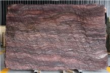 Revolution Wave Quartzite Slabs & Tiles, China Red Quartzite