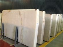 Snow White Onyx Slabs & Tiles, China White Onyx