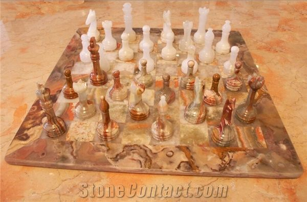 Multi Color Onyx Chess Board Set From China Stonecontact Com