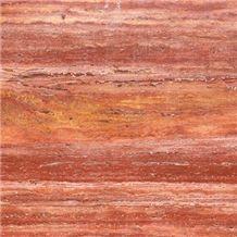T111 Red Travertine Tile & Slab