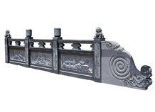 Wellest Black & Dark Grey Granite Fence,China Granite,G654 Sesame Black Fence,Model No.Gb035