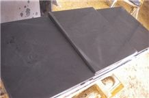 Wellest Black Sandstone Flooring Tile, Honed Finish,China Black Sandstone,Natural Stone