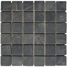 Wellest China Black Slate Mosaic,Model No.Ssm006