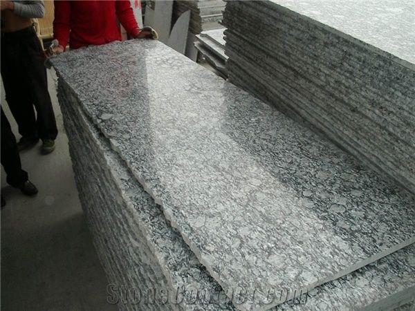 Wellest G418 Spray White Small Granite Slab, Random Edge