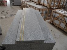 Wellest G603 China Rosa Beta,Padang Light Grey,Luner Pearl Granite Step,Eased Edge,With Antislip, with Metal Strip, Polished,China Granite,Natural Stone