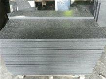 Wellest G684 Fortune Black Granite Floor Tile, Flamed Surface, China Black Granite