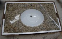 Wellest Giallo Santa Cecilia Yellow Granite Vanity Top,Bathroom Countertop,Natural Stone