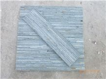 Wellest Green Slate Splited Culture Stone,Ledge Stone,Stacked Stone,Wall Cladding Tile,For Water Flow,Green Slate Sl-017l