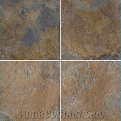 Wellest Multi Color Slate Floor Tile