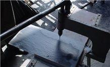 Wellest Rectangular Black Slate Roof Tile, Sides Natural Split,With Pre-Drilled Holes,Oil Sealing,Model No. Srt005