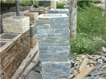 Wellest Rough Grey Slate Gate Column,Slate Pillar,China Natural Grey Slate