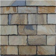 Wellest Rusty Brown Rectangular Black Slate Roof Tile, Sides Natural Split,Without Pre-Drilled Holes,Model No.Srt004